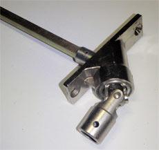 Sortie de caisson 90° carré de 7 mm platine 22 x 85