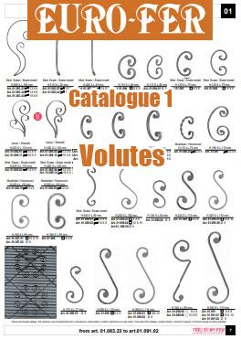 Catalogue Eurofer des volutes en fer forgé