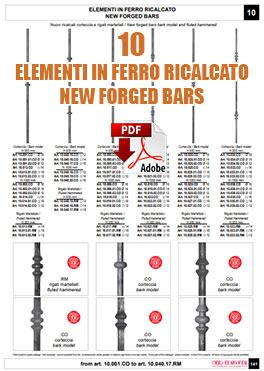 ELEMENTI IN FERRO RICALCATO NEW FORGED BARS