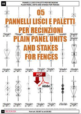 PANNELLI LISCI E PALETTI PER RECINZIONI PLAIN PANEL UNITS AND STAKES FOR FENCES