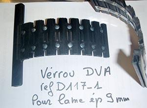 Verrou Deprat lame 9 mm Verrou DVA réf D117-1 pour lame épaisseur 9 mm